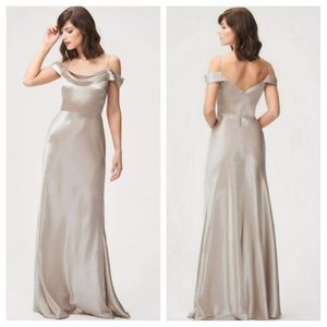 JENNY YOO Sz 8 Serena Bridesmaid Gown Latte Dress